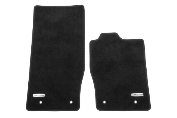 Jaguar F Type Carpet Mat Set - Ebony Black - Left Hand Drive